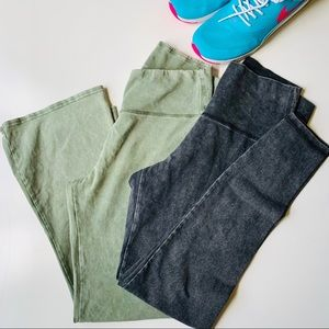 Aerie High Rise Leggings bundle Gray and Green 💚